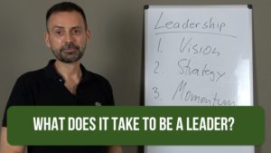 What does it take to be a leader?